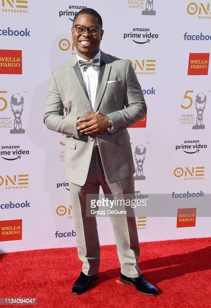 Jason Mitchell arrives at the 50th NAACP Image Awards at Dolby Theatre on March 30 2019 in Hollywood California