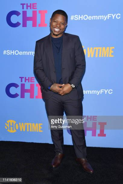 Jason Mitchell attends Showtime's The Chi For Your Consideration at Silver Screen Theater at the Pacific Design Center on April 10 2019 in West...