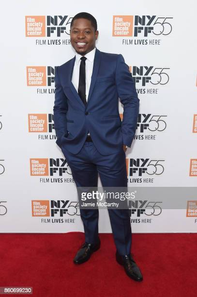 Jason Mitchell attends the 'Mudbound' premiere during the 55th New York Film Festival at Alice Tully Hall on October 12 2017 in New York City