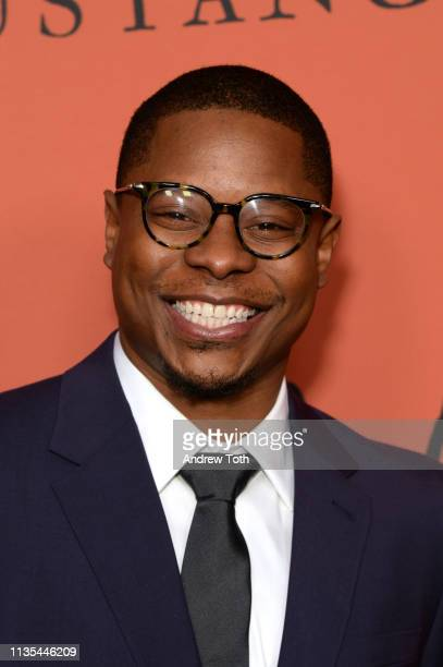 Jason Mitchell attends the premiere of Focus Features' The Mustang at ArcLight Hollywood on March 12 2019 in Hollywood California