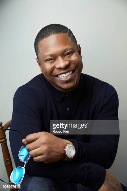 Jason Mitchell from the film 'Tyrel' poses for a portrait at the YouTube x Getty Images Portrait Studio at 2018 Sundance Film Festival on January 21...