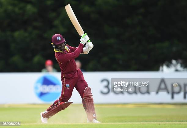 Jason Mohammed of West Indies batting during the TriSeries International match between England Lions and West Indies A at The 3aaa County Ground on...