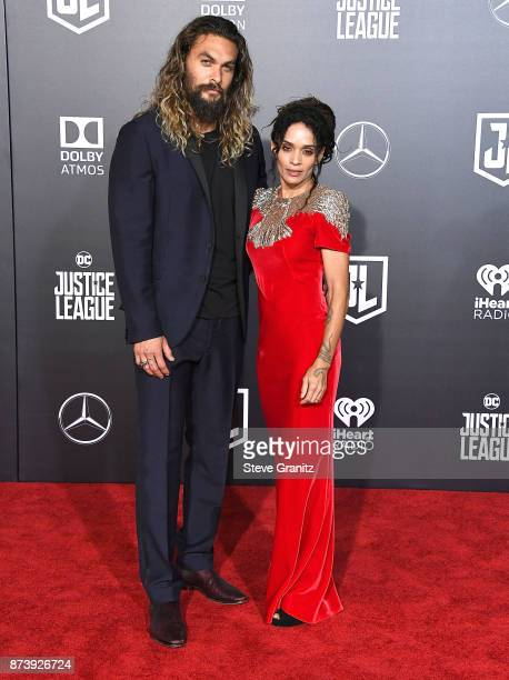 Jason Momoa Amber Heard arrives at the Premiere Of Warner Bros Pictures' Justice League at Dolby Theatre on November 13 2017 in Hollywood California