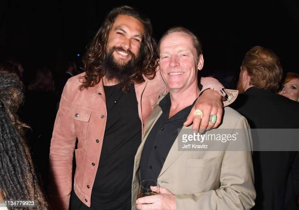"""Jason Momoa and Iain Glen attend the """"Game Of Thrones"""" Season 8 NY Premiere on April 3, 2019 in New York City."""