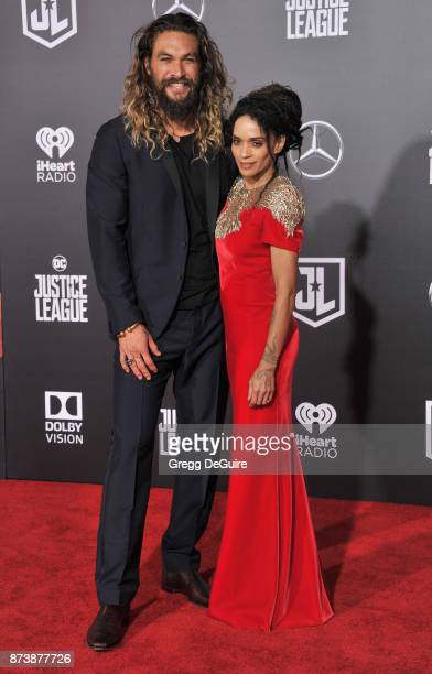 Jason Momoa and Lisa Bonet arrive at the premiere of Warner Bros Pictures' Justice League at Dolby Theatre on November 13 2017 in Hollywood California