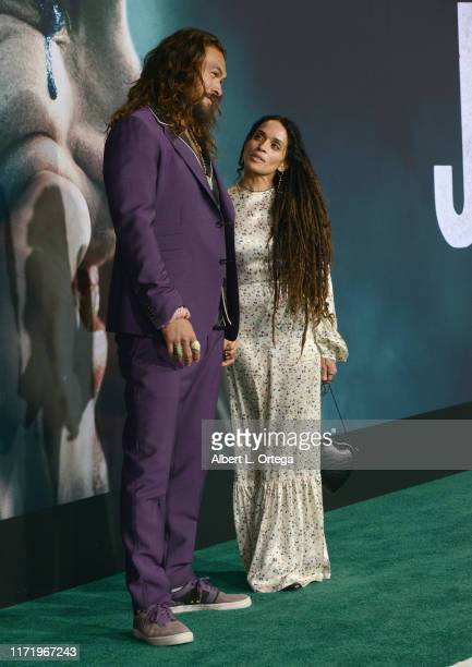 Jason Momoa and Lisa Bonet arrive for the Premiere Of Warner Bros Pictures Joker held at TCL Chinese Theatre IMAX on September 28 2019 in Hollywood...