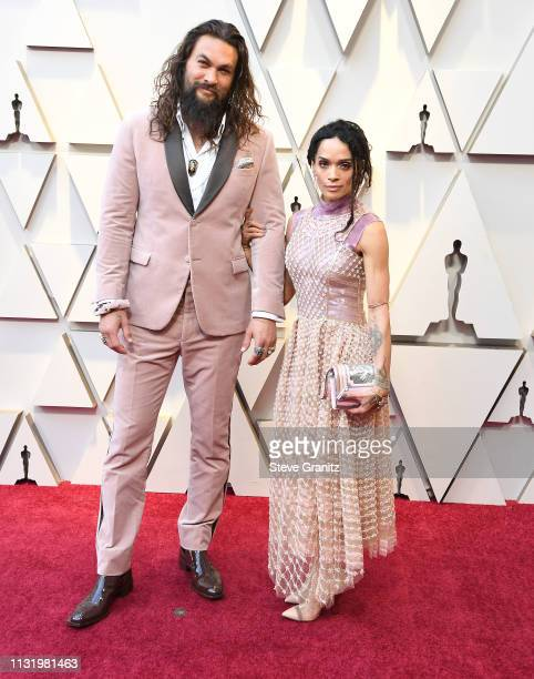 Jason Momoa and Lisa Bonet arrives at the 91st Annual Academy Awards at Hollywood and Highland on February 24 2019 in Hollywood California