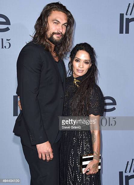 Jason Momoa and Lisa Bonet arrives at the InStyle Awards at Getty Center on October 26 2015 in Los Angeles California