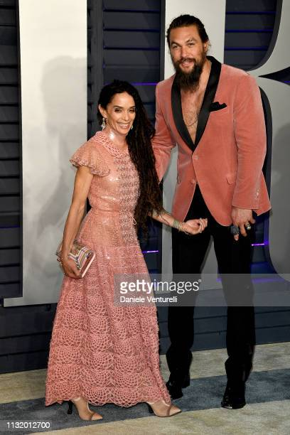 Jason Momoa and Lisa Bonet attend 2019 Vanity Fair Oscar Party Hosted By Radhika Jones Arrivals at Wallis Annenberg Center for the Performing Arts on...