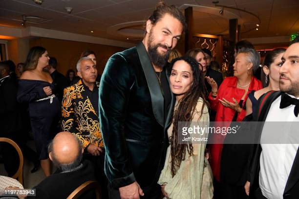 Jason Momoa and Lisa Bonet attend HBO's Official 2020 Golden Globe Awards After Party on January 05 2020 in Los Angeles California
