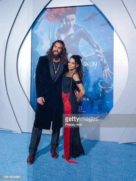 Jason Momoa and Lisa Bonet attend Premiere Of Warner Bros Pictures' Aquaman at TCL Chinese Theatre on December 12 2018 in Hollywood California