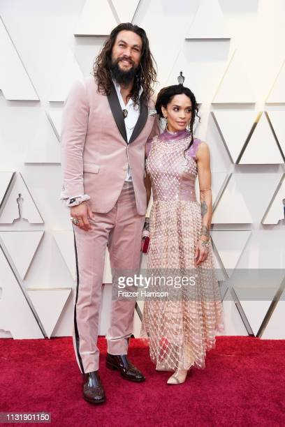 Jason Momoa and Lisa Bonet attend the 91st Annual Academy Awards at Hollywood and Highland on February 24 2019 in Hollywood California