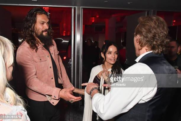 Jason Momoa and Lisa Bonet attend the Game Of Thrones Season 8 NY Premiere After Party on April 3 2019 in New York City