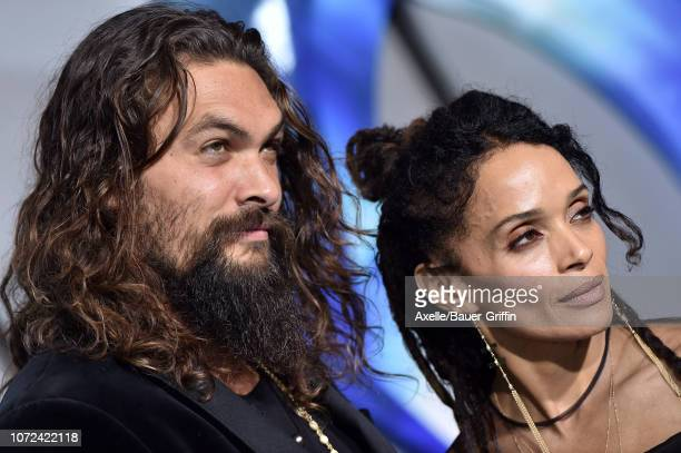Jason Momoa and Lisa Bonet attend the premiere of Warner Bros Pictures' 'Aquaman' at TCL Chinese Theatre on December 12 2018 in Hollywood California