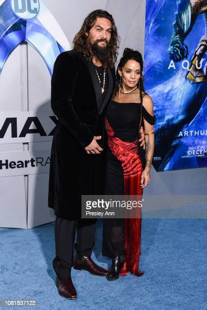 Jason Momoa and Lisa Bonet attend the premiere of Warner Bros Pictures' Aquaman at TCL Chinese Theatre on December 12 2018 in Hollywood California