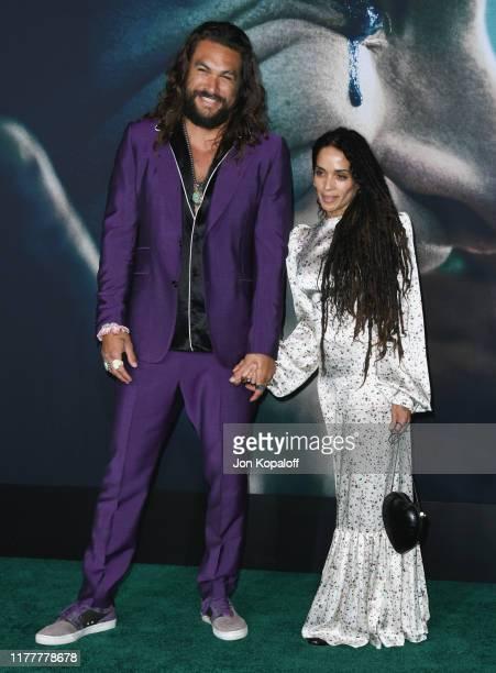 Jason Momoa and Lisa Bonet attend the Premiere Of Warner Bros Pictures Joker on September 28 2019 in Hollywood California
