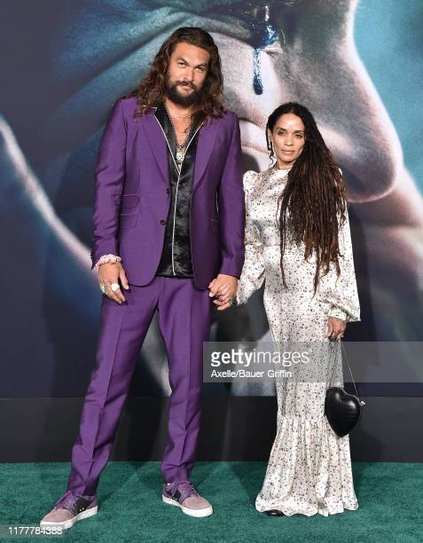 Jason Momoa and Lisa Bonet attend the Premiere of Warner Bros Pictures Joker on September 28 2019 in Hollywood California