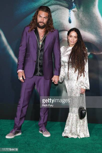 "Jason Momoa and Lisa Bonet attend the premiere of Warner Bros Pictures ""Joker"" on September 28, 2019 in Hollywood, California."