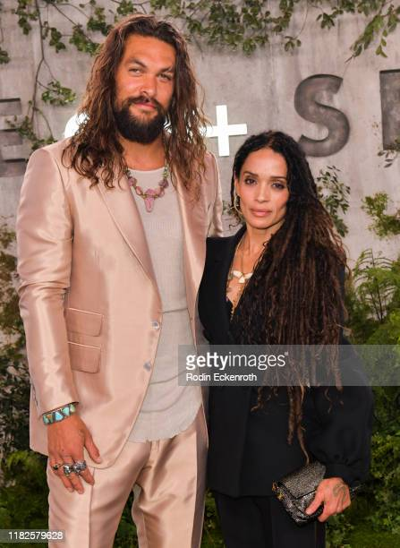 Jason Momoa and Lisa Bonet attend the World Premiere of Apple TV's See at Fox Village Theater on October 21 2019 in Los Angeles California