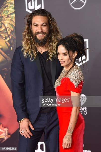 Jason Momoa and Lisa Bonet attend the world premiere of Warner Bros Pictures' Justice League November 13 2017 at the Dolby Theater in Hollywood...