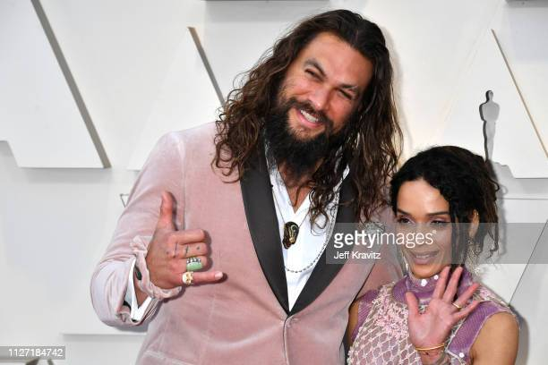 Jason Momoa and Lisa Bonet attends the 91st Annual Academy Awards at Hollywood and Highland on February 24 2019 in Hollywood California