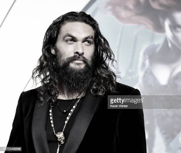 Jason Momoa arrives at the premiere of Warner Bros Pictures' Aquaman at the Chinese Theatre on December 12 2018 in Los Angeles California