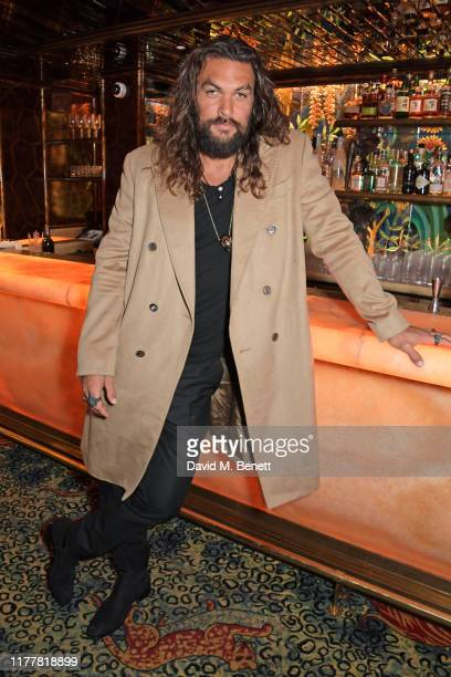 Jason Momoa attends an after party celebrating the reopening of the Louis Vuitton New Bond Street Maison at Annabel's on October 23 2019 in London...