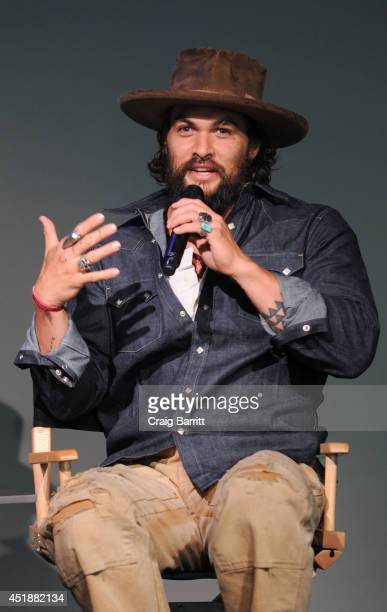 Jason Momoa attends 'Meet The Filmmaker' at Apple Store Soho on July 8 2014 in New York City