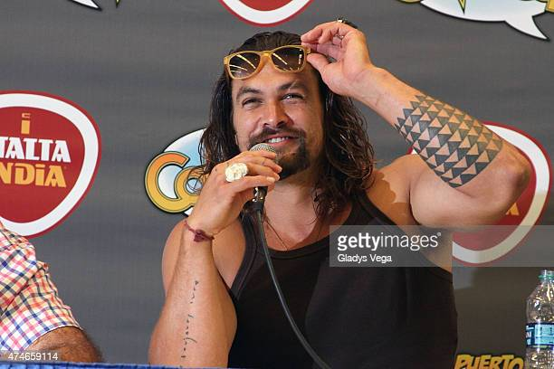Jason Momoa attends Puerto Rico Comic Con at the Puerto Rico Convention Center on May 24 2015 in San Juan Puerto Rico
