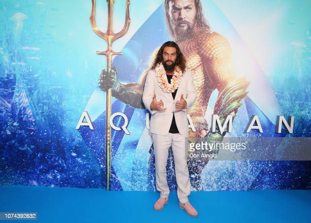 Jason Momoa attends the Aquaman Sydney Fan Event at Event Cinemas George Street on December 19 2018 in Sydney Australia