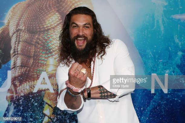 Jason Momoa attends the Australian premiere of Aquaman on December 18 2018 in Gold Coast Australia