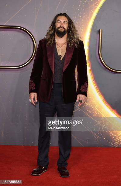 """Jason Momoa attends the """"Dune"""" UK Special Screening at Odeon Luxe Leicester Square on October 18, 2021 in London, England."""