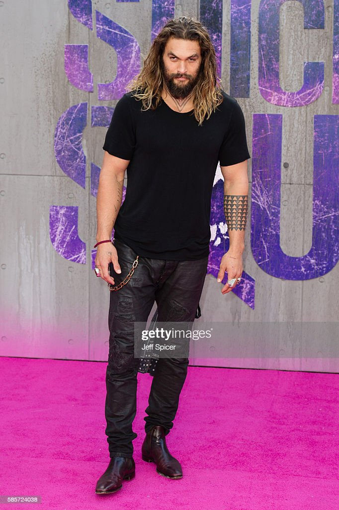 Jason Momoa attends the European Premiere of 'Suicide Squad' at Odeon Leicester Square on August 3, 2016 in London, England.