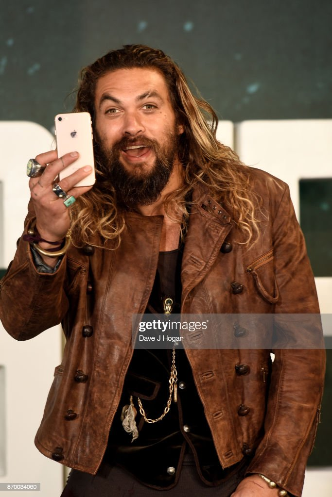 Jason Momoa attends the 'Justice League' photocall at The College on November 4, 2017 in London, England.