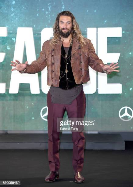 Jason Momoa attends the 'Justice League' photocall at The College on November 4 2017 in London England