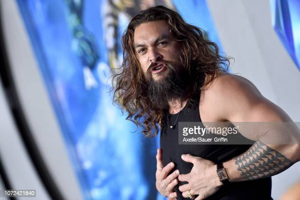Jason Momoa attends the premiere of Warner Bros Pictures' 'Aquaman' at TCL Chinese Theatre on December 12 2018 in Hollywood California