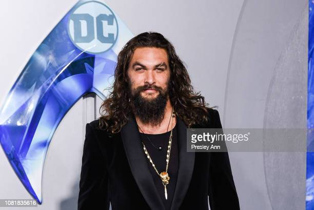 Jason Momoa attends the premiere of Warner Bros Pictures' Aquaman at TCL Chinese Theatre on December 12 2018 in Hollywood California