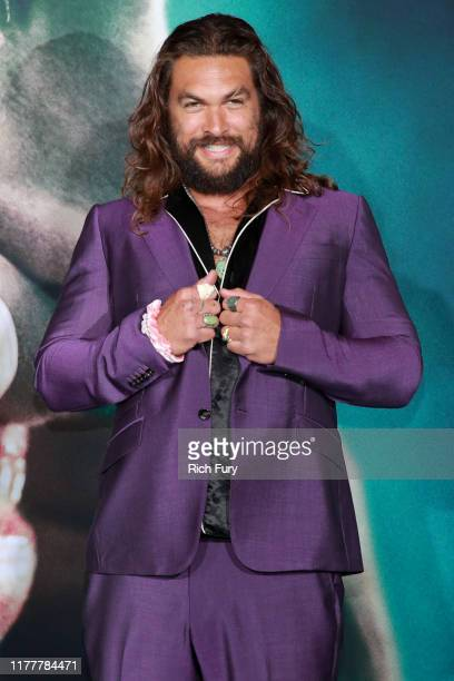 """Jason Momoa attends the premiere of Warner Bros Pictures """"Joker"""" on September 28, 2019 in Hollywood, California."""