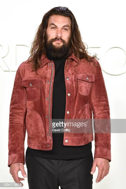 Jason Momoa attends the Tom Ford AW/20 Fashion Show at Milk Studios on February 07 2020 in Los Angeles California