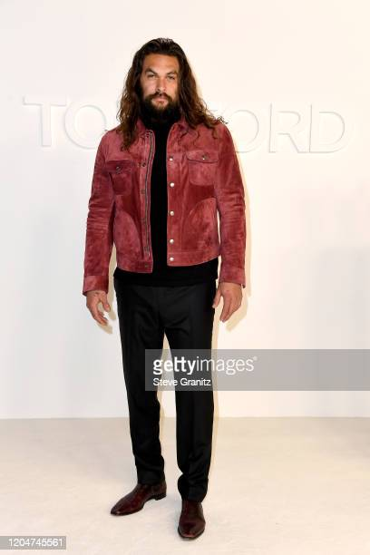 Jason Momoa attends the Tom Ford AW20 Show at Milk Studios on February 07 2020 in Hollywood California
