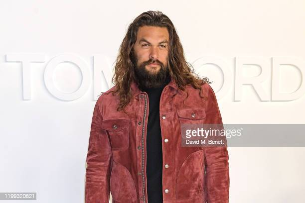 Jason Momoa attends the Tom Ford AW20 show at Milk Studios on February 7 2020 in Hollywood California