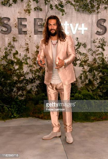 Jason Momoa attends the World Premiere Of Apple TV's See at Fox Village Theater on October 21 2019 in Los Angeles California