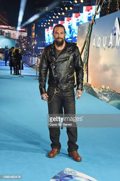 Jason Momoa attends the World Premiere of 'Aquaman' at Cineworld Leicester Square on November 26 2018 in London England