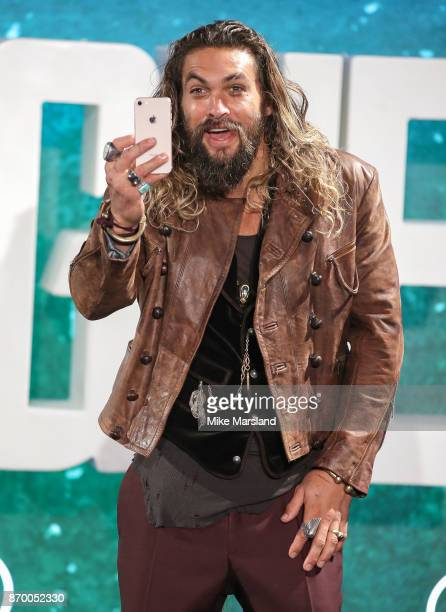 Jason Momoa during the 'Justice League' photocall at The College on November 4 2017 in London England