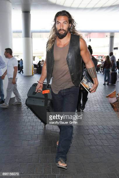 Jason Momoa is seen at LAX on June 11 2017 in Los Angeles California