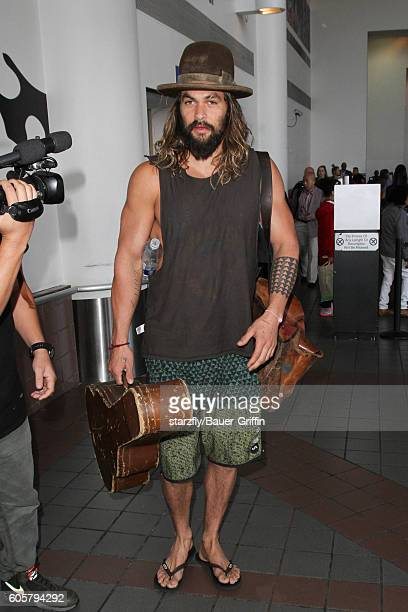 Jason Momoa is seen at LAX on September 14 2016 in Los Angeles California