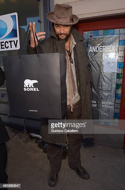 Jason Momoa is seen at Sorel Around Park City Day 1 2014 Park City on January 17 2014 in Park City Utah