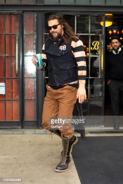Jason Momoa is seen in the East Village on February 04 2020 in New York City