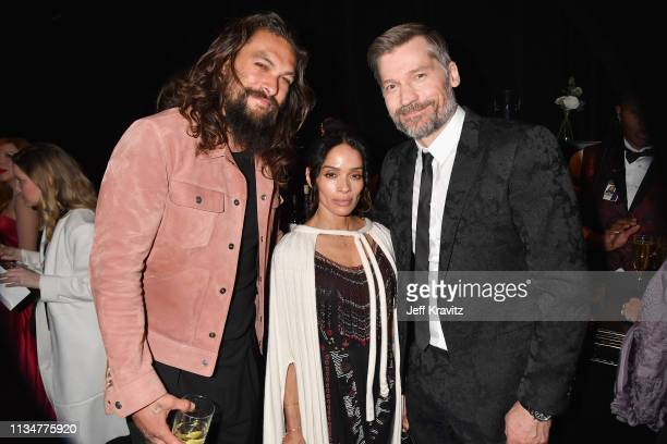 Jason Momoa Lisa Bonet and Nikolaj CosterWaldau attend the Game Of Thrones Season 8 NY Premiere After Party on April 3 2019 in New York City