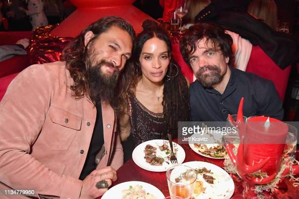 Jason Momoa Lisa Bonet and Peter Dinklage attend the Game Of Thrones Season 8 NY Premiere After Party on April 3 2019 in New York City